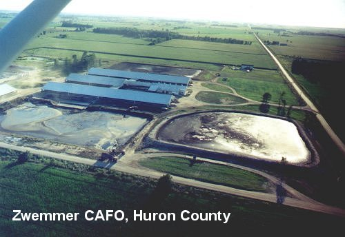 Dairy CAFO of Jake Zwemmer, Huron County, fall 2003